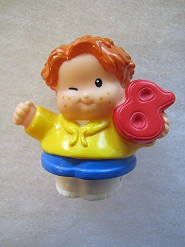 Fisher Price Little People Number Kids Time To Learn Preschool Counting Kids Play Set RED HAIRED BOY, WINKING #8 2006