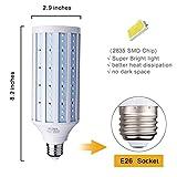 42W E26 LED Corn Light Bulb for Street Lamp Post Lighting Garage Factory Warehouse High Bay Barn Porch Backyard Garden Super Bright,4200Lm 6500K Daylight Super Bright,85V-265V