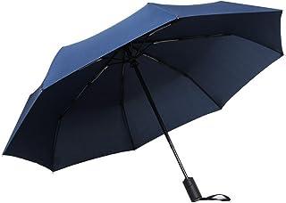 LybCvad Parapluie Parapluie Parapluie Transparent Couple Rose Multicolore Business Parapluie Double Usage Coupe-Vent Hommes et Femmes Gradient, 8 côtes Bleu