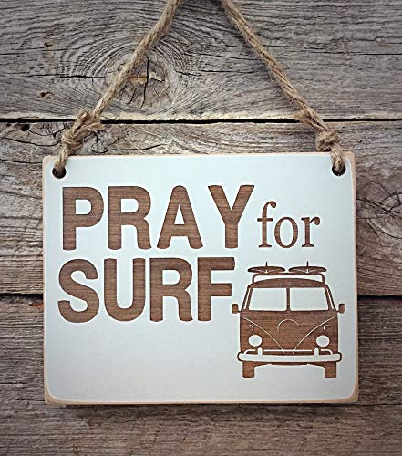 Pray for Surf - surfing sign - interiors - amber - boys room