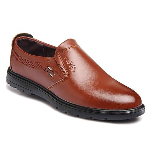 Tenthree Planos Zapatos Mocasines Hombre - Hombres Cuero Derby Oxford Business Barco Conducción Calzado Oficina Smart Trabajo Formal Informal Boda Verano ...