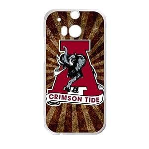 Generic Custom Unique Design NCAA University of Alabama Crimson Tide Team Logo PC and TPU Case Cover for HTC One M8