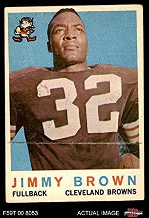 Jim Brown Football >> Amazon Com 1959 Topps 10 Jim Brown Cleveland Browns Fb
