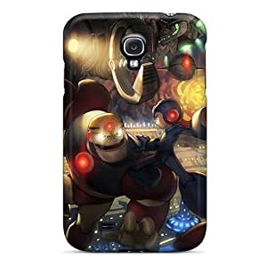 Tpu Case Cover For Galaxy S4 Strong Protect Case - Megaman Design