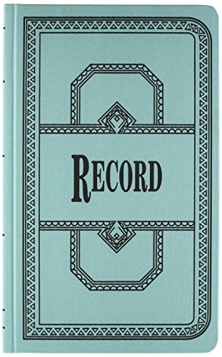 Esselte Account Book - Borrum & Pease 66 Series Account Books, Record Ruling, 300 Pages, 12-1/8ʺ x 7-5/8ʺ, Blue (66-300-R)