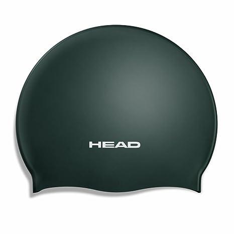 34ef4f518580 Head Silicone Moulded Nuoto Cuffia - Nero: Amazon.it: Sport e tempo ...