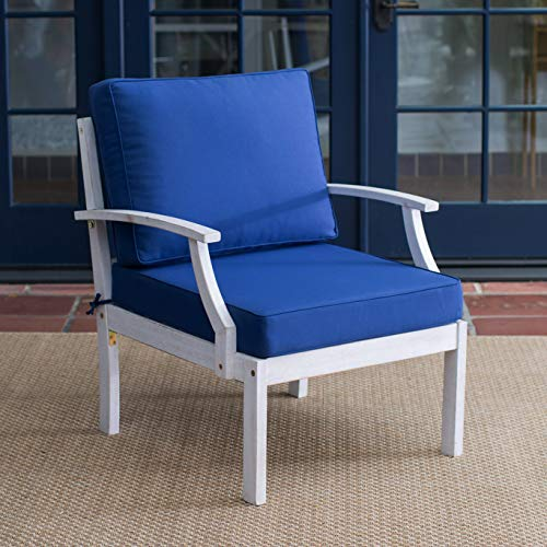 - Patio Lounge Chair. Coastal Style, Outdoor Furniture Of Natural Wood For Fire Pit, Table, Porch, Deck, Lawn, Pool, Garden, Balcony, Conversation, Seating, Dining. Outside Deep Club Chair With Cushions