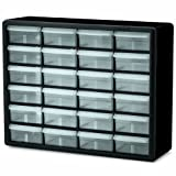 Tools & Hardware : Akro-Mils 10124 24 Drawer Plastic Parts Storage Hardware and Craft Cabinet, 20-Inch x 16-Inch x 6.5-Inch, Black