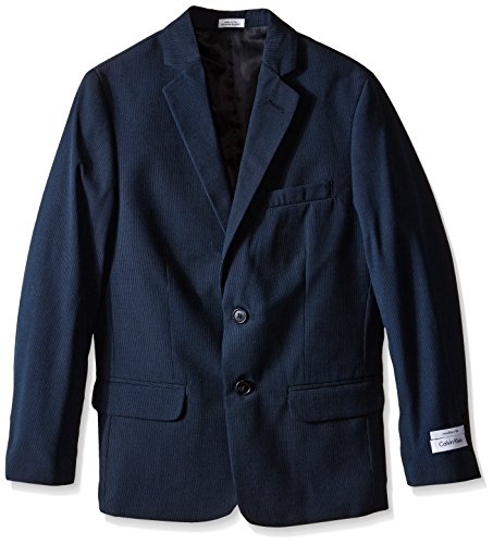 Calvin Klein Big Boys' CK Pinstripe Jacket, Navy, 16 (Boy Blazers On Sale)