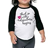 Sampaitary Kid and So The Adventure Begins Classic Sweat T-Shirt 5-6 Toddler Black