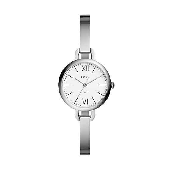 12ce3bfd6d2f Buy Fossil Analog White Dial Women s Watch - ES4390 Online at Low Prices in  India - Amazon.in