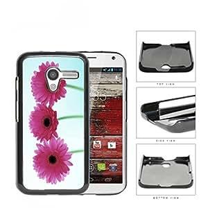 Pink Gerbera Daisy Flowers Hard Plastic Snap On Cell Phone Case Motorola Moto X