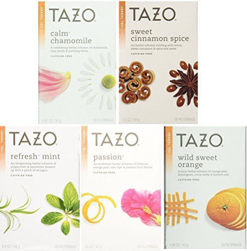 Cinnamon Mint Tea (Tazo Herbal Tea 5 Flavor Variety Pack Sampler (Pack of 5, 100 Bags Total))