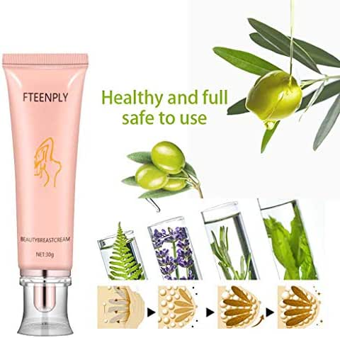 Hybei Breast Massage Cream, Hanging Down Reduces Breast Lifting Wrinkle Free Cream Breast Enlargement Tightening Rounded Breast Lifting and Enlargement