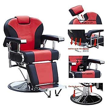 Sensational Walcut Barbershop Barber Chair Hydraulic Pump Hairdressing Reclining Chair For Salon Shampoo Beauty Spa Equipment Hair Cutting Redblack Short Links Chair Design For Home Short Linksinfo