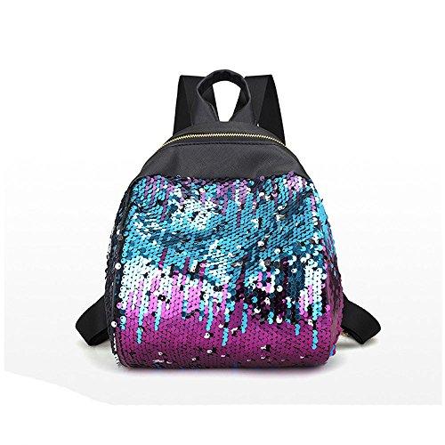 femme de Paillettes Sacs Femme brillant violet scolaire noir voyage bandoulière Sacs Fq5wS7