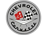 Corvette Garage Wall or Floor Graphic Gray C1 Logo 44''