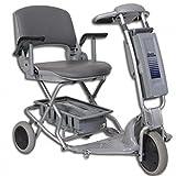 Tzora - Easy Travel Elite - Folding Lightweight Travel Scooter - 3-Wheel - Silver