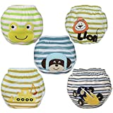 Babyfriend Lovely Baby Boys' Washable 5 Pack Toilet Training Pants Nappy Underwear Cloth Diaper TP5-010