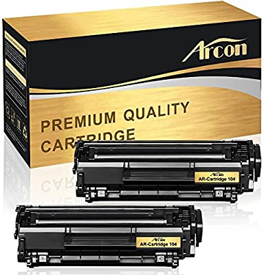Arcon 2 Packs Compatible for HP 12A Q2612A Canon 104 Toner Cartridge HP LaserJet 1018 3055 1022 3030 3020 3052 Image Class D420 ImageClass MF4150 Toner MF4150 MF4350d Canon ImageClass D420 Printer
