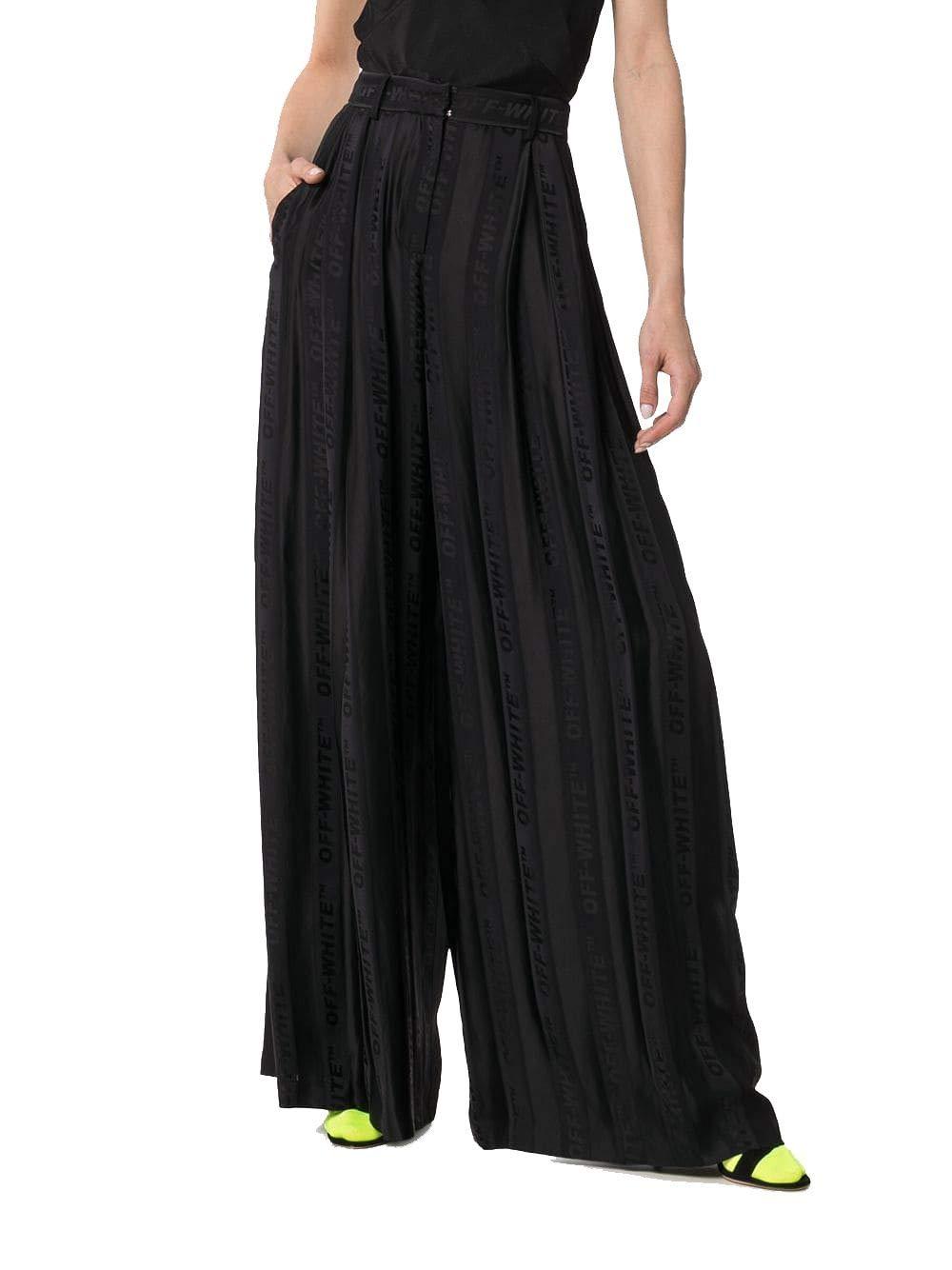 OffWhite Women's OWCA078R19C850571000 Black Cotton Pants