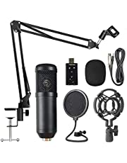Lixada BM800 Suspension Microphone Kit Live Broadcasting Recording Condenser Microphone Set