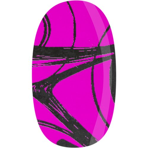 Skinz Nail Decals 24 Count Teal and Fuchsia Swirl (Foil Replica)