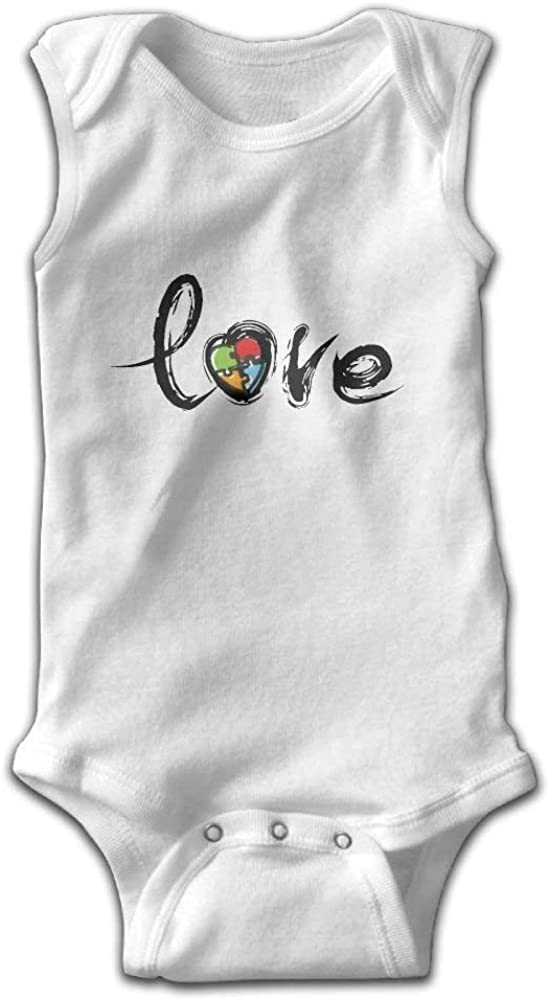 Puzzle Heart Autism Love Shoulder Bodysuits as picture24 Months
