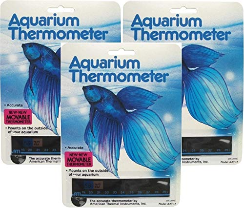 Horizontal Aquarium Thermometer (Pack of 3)