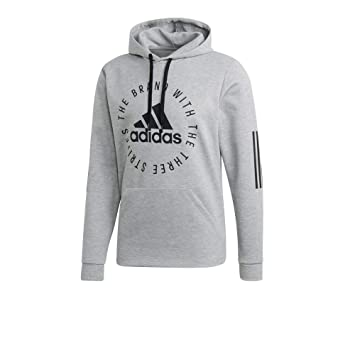 adidas Herren Hoodie Sport ID medium Grey Heather Black XS 8212c1fef5