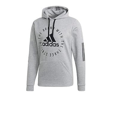 1722cb1c0642f adidas Herren Hoodie Sport ID medium Grey Heather/Black XS
