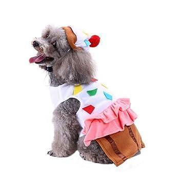 TYJY Ropa para Perros De Navidad Y Halloween Vestido Mascota Gato Cachorro Ropa Cosplay Prendas De Vestir Fiesta Pequeño Traje De Perro Grande XL: ...