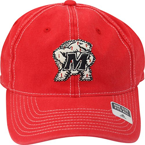 Maryland Terrapins Tonal Logo Slouch Distressed Ripped Adult Flex Fit Cap Hat OSFA