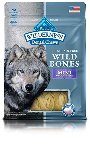 BLUE Wilderness Wild Bones Grain Free Dental Chews, 10 oz., Mini Bones for Dogs