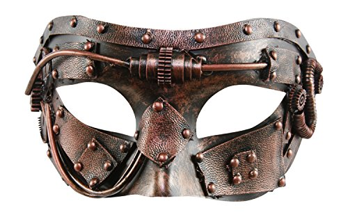 KAYSO INC The Machinist Victorian Steampunk Half Face Masquerade Mask (Vintage Bronze)