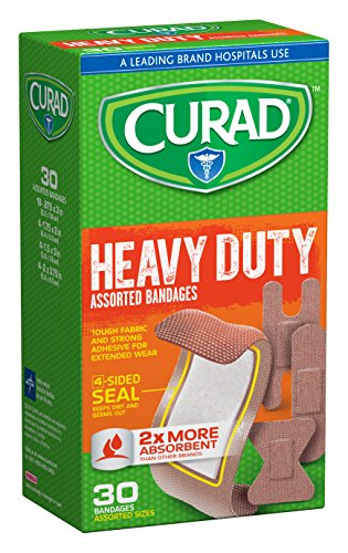 Curad Extreme Hold, Assorted Sizes, 30 (Curad Flexible Fabric)