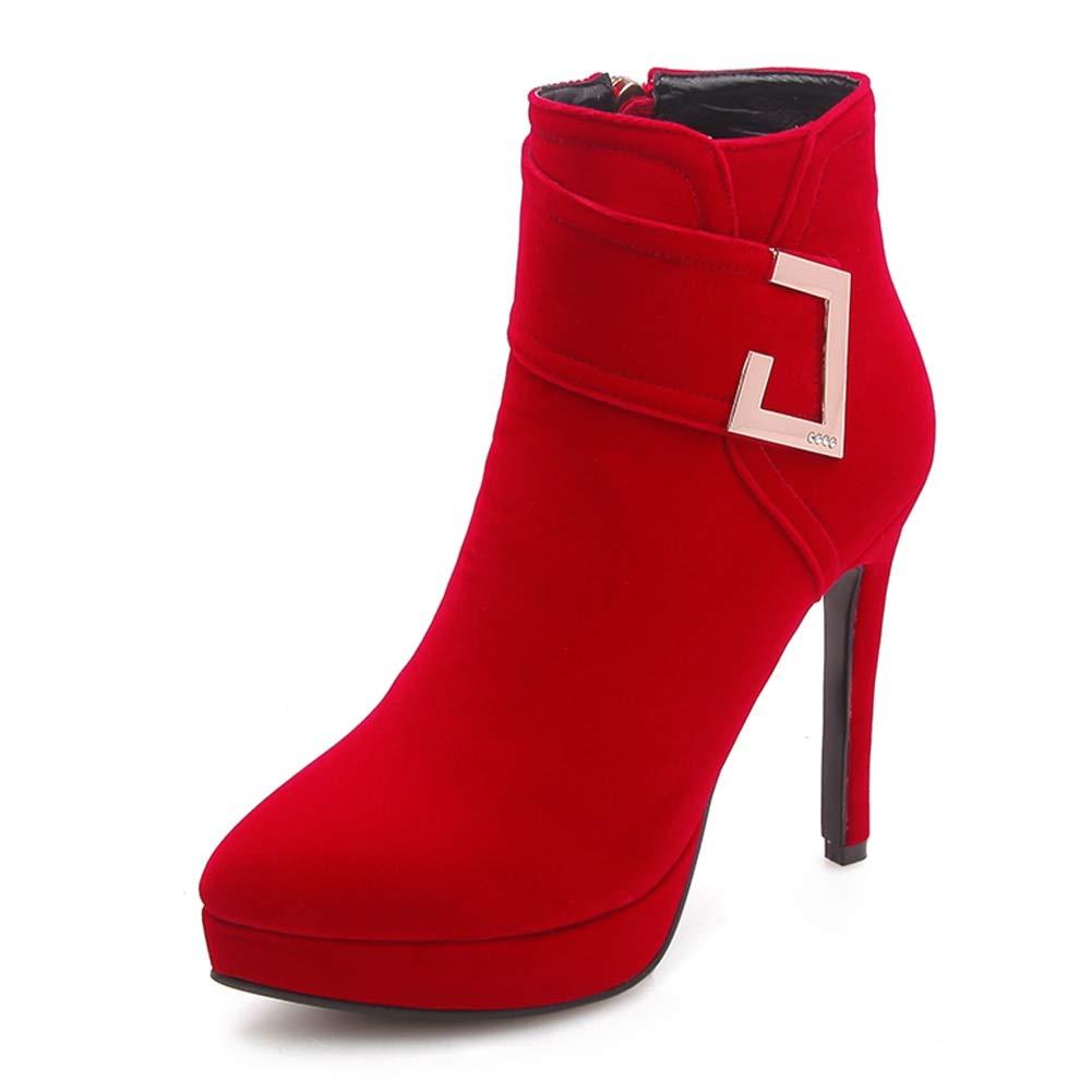 HOESCZS New Plus Größe 33-43 Elegante OL Partei Frau Stiefel High Heels Großhandel Damen Stiefeletten Schuhe Frau,