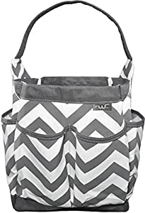 FinWings Portable Caddy, Diaper Bag Caddy Organizer, Baby Pool Beach Bag, Bath Organizer, Cleaning Supplies Tote, Cosmetic Makeup Bag Waterproof 7 Storage Compartments