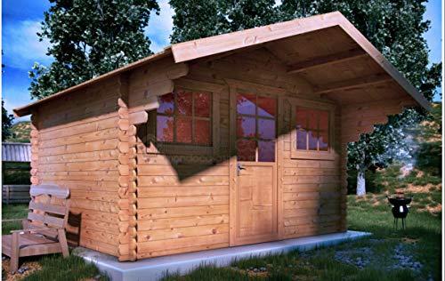 Mondocasette Casa Casa de Madera de jardín - Modelo Genova Grosor Paredes 45 mm 380 x 380 Cm, ripostiglio legnaia Box: Amazon.es: Jardín