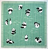 Furoshiki Wrapping Cloth Pandas in a Bamboo Forest Motif Japanese Fabric 50cm