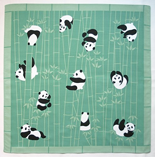 Furoshiki Wrapping Cloth Pandas in a Bamboo Forest Motif Japanese Fabric 50cm - Panda Bear Fabric