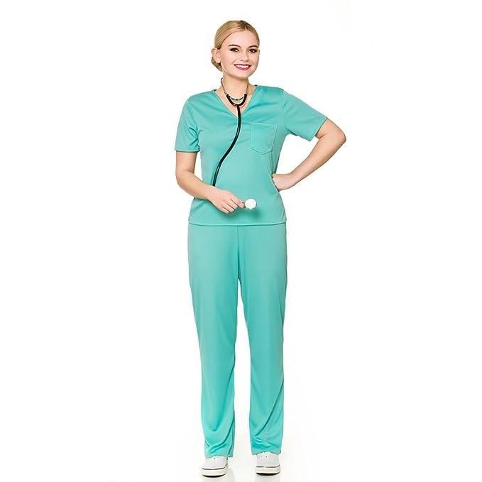 Señoras traje del disfraz del cirujano de E.R (S - 10/12 38-40 ...