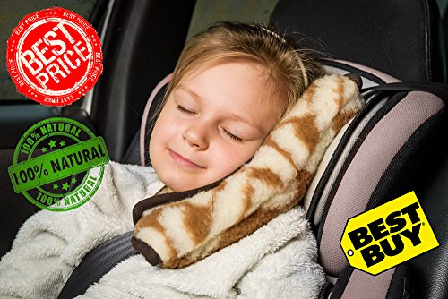 "Seat Belt Pad Cushion ""Caramel"" Car Safety Pillow Shoulde..."