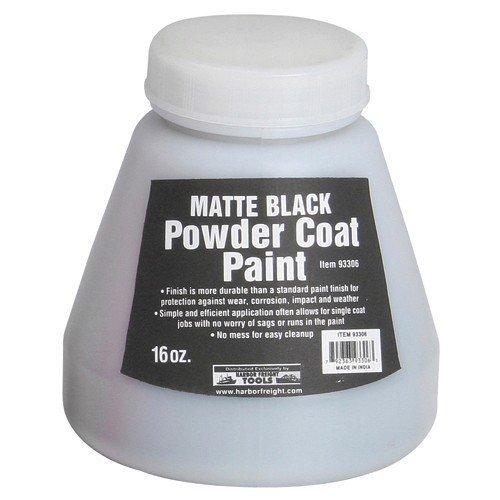 16 Oz. Powder Coat Paint - Matte Black from TNM by HF