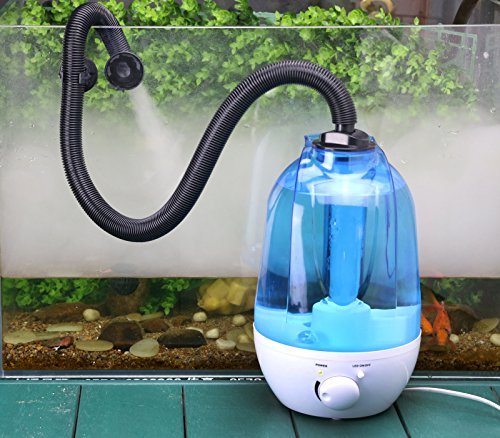 Coospider Reptile Fogger Terrariums Humidifier Fog Machine Mister- 3 Liter Tank 380L/hr High Volume Fog- Ideal for a Variety of Reptiles/Amphibians/Herps