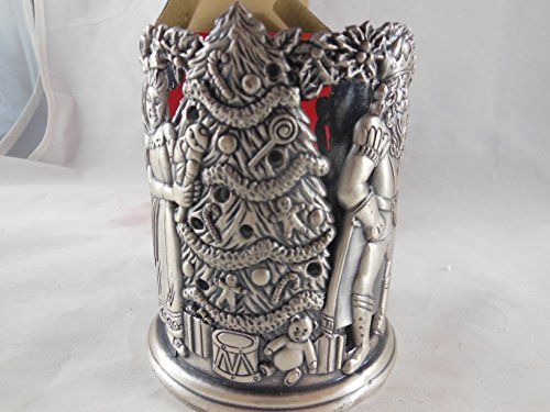 Home for the Holidays Christmas Pewter Votive Tealight Candle Holder Nutcracker # FS284 May Department Stores 1995 by May Dept Stores (Image #3)