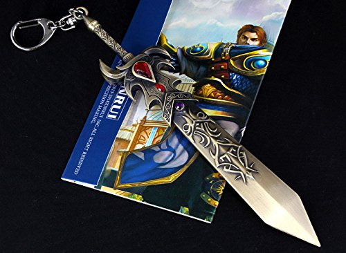 6 Inch Length League of Legends LOL the Might of Demacia Garen Weapon Sword Large Size Metal Pendant Key Ring Keychain in Box Photo #6