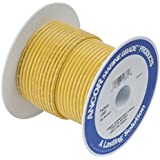 Ancor 111910 Marine Grade Electrical Tinned Copper Battery Cable (8-Gauge, Yellow, 100-Feet)