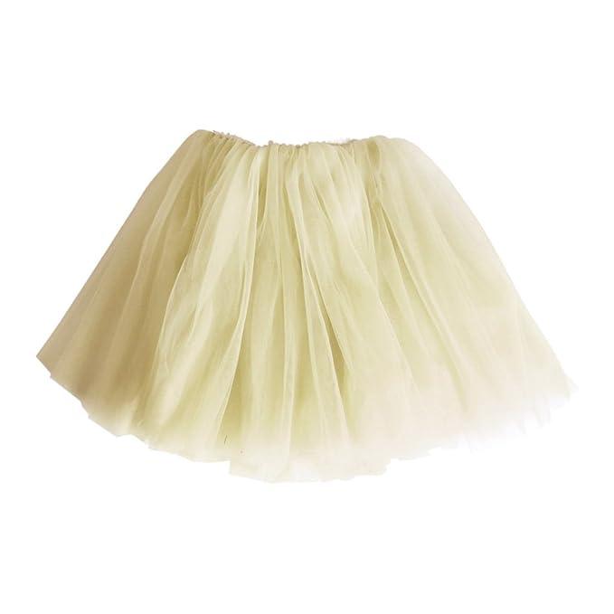 Andux Zone Falda de Tul Tutú Gasa Faldas Vestido Princesa Hada Fiesta Ballet para Muchacha Niña
