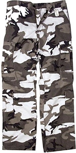Bellawjace Clothing Vintage City Camouflage Paratrooper Pants Tactical Military BDU Fatigue